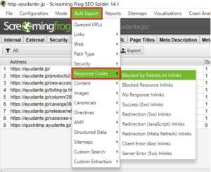 Screaming FrogのBulk Exportからレスポンスコードごとの被リンクを見る方法